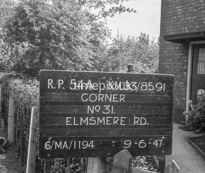 SJ859154A, Ordnance Survey Revision Point photograph in Greater Manchester