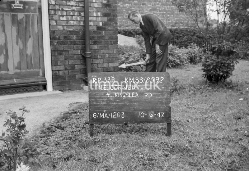 SJ859233B, Ordnance Survey Revision Point photograph in Greater Manchester