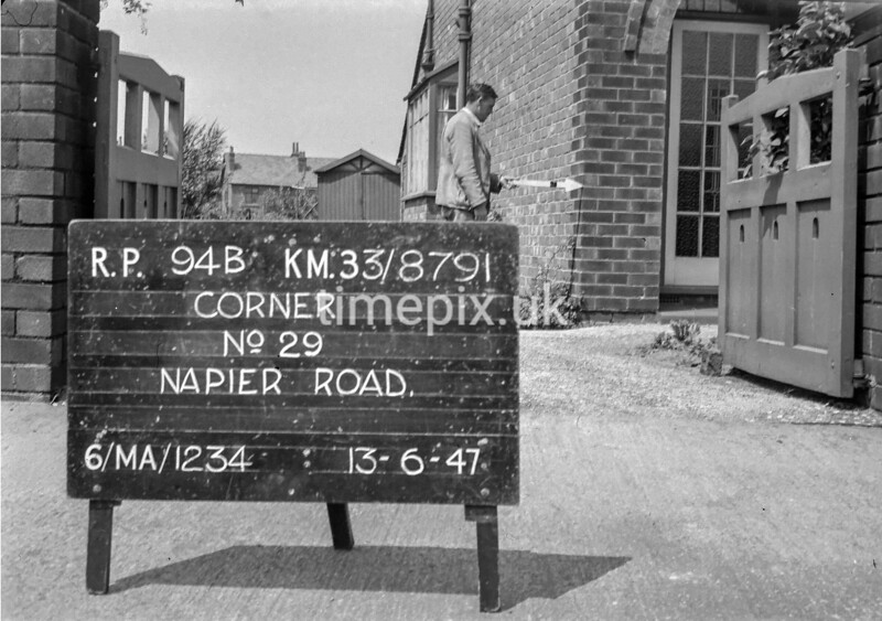 SJ879194B, Ordnance Survey Revision Point photograph in Greater Manchester
