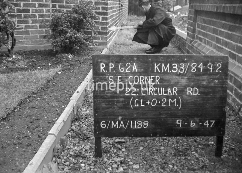 SJ849262A, Ordnance Survey Revision Point photograph in Greater Manchester