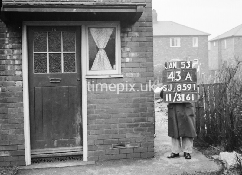 SJ859143A, Ordnance Survey Revision Point photograph in Greater Manchester