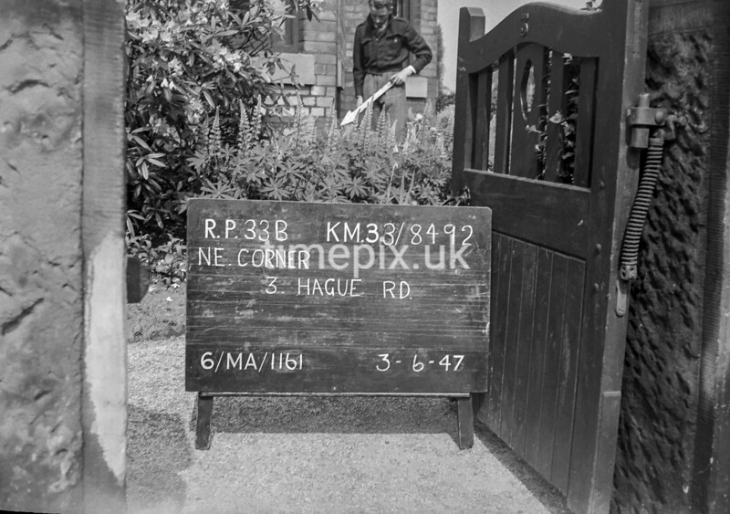 SJ849233B, Ordnance Survey Revision Point photograph in Greater Manchester