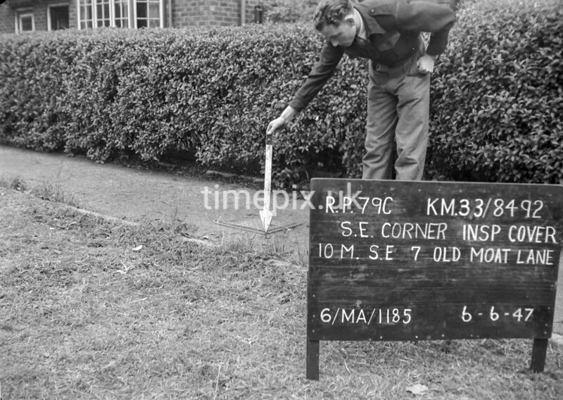 SJ849279C, Ordnance Survey Revision Point photograph in Greater Manchester