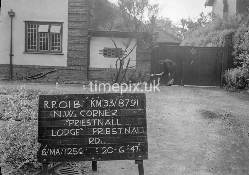 SJ879101B, Ordnance Survey Revision Point photograph in Greater Manchester