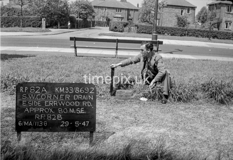 SJ869282A, Ordnance Survey Revision Point photograph in Greater Manchester