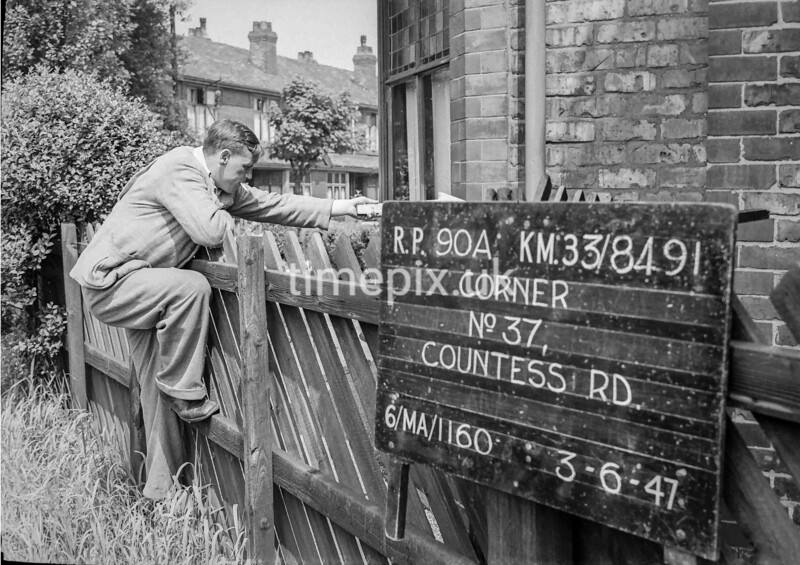 SJ849190A, Ordnance Survey Revision Point photograph in Greater Manchester