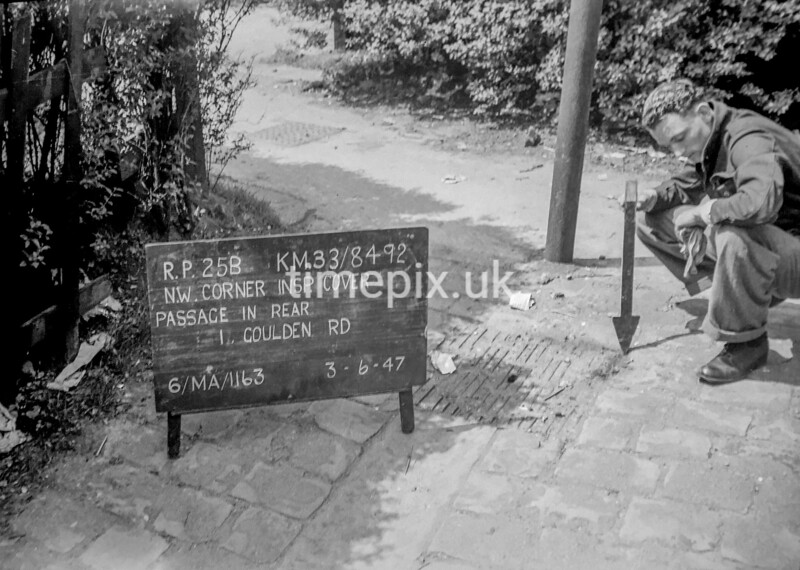 SJ849225B, Ordnance Survey Revision Point photograph in Greater Manchester