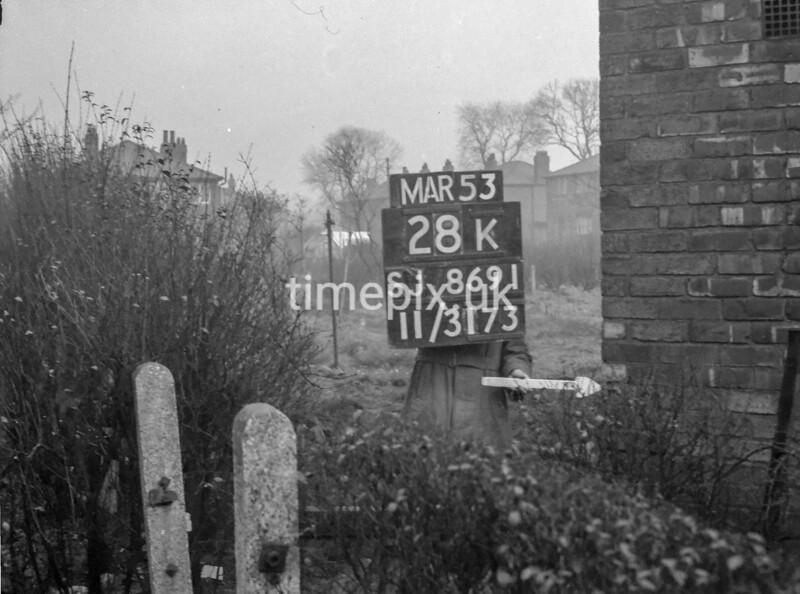 SJ869128K, Ordnance Survey Revision Point photograph in Greater Manchester
