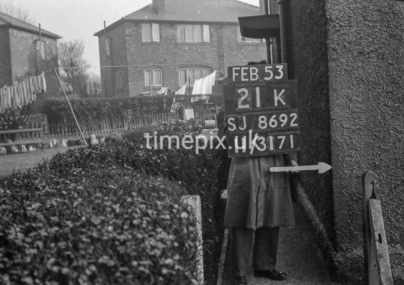 SJ869221K, Ordnance Survey Revision Point photograph in Greater Manchester