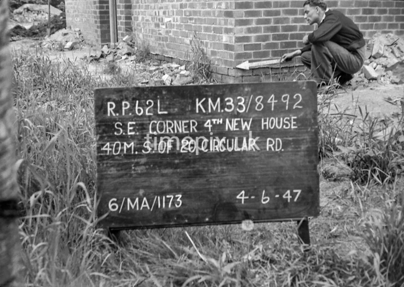 SJ849262L, Ordnance Survey Revision Point photograph in Greater Manchester