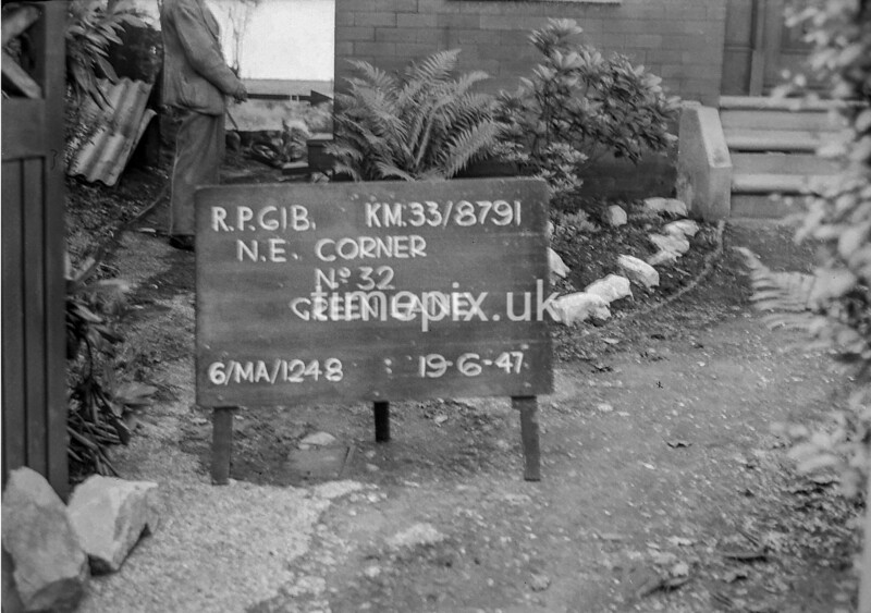 SJ879161B, Ordnance Survey Revision Point photograph in Greater Manchester