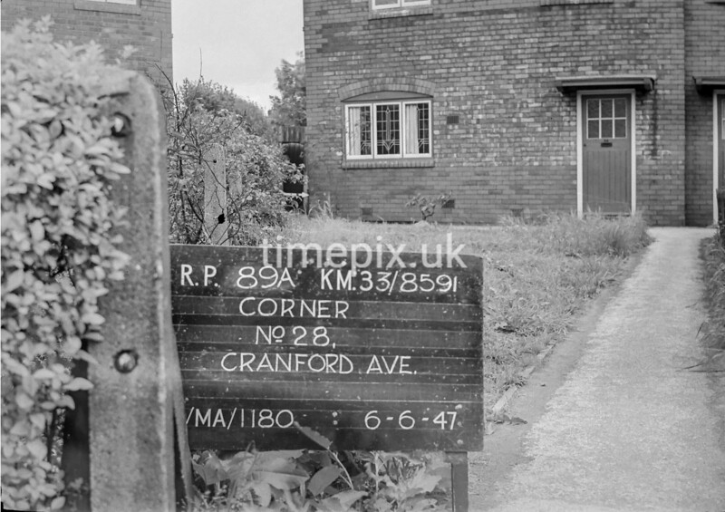 SJ859189A, Ordnance Survey Revision Point photograph in Greater Manchester