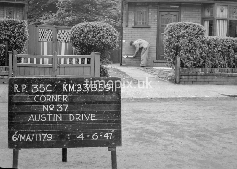 SJ859135C, Ordnance Survey Revision Point photograph in Greater Manchester