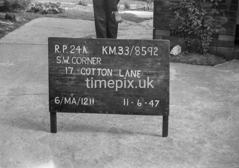 SJ859224A, Ordnance Survey Revision Point photograph in Greater Manchester