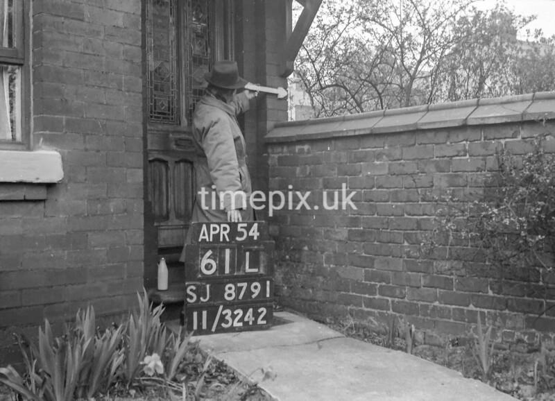 SJ879161L, Ordnance Survey Revision Point photograph in Greater Manchester