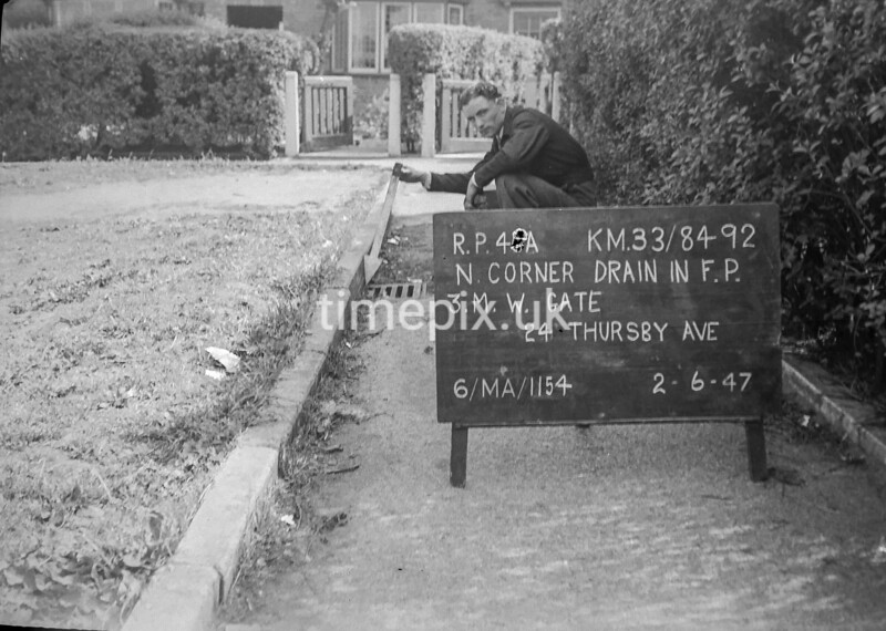 SJ849240A, Ordnance Survey Revision Point photograph in Greater Manchester
