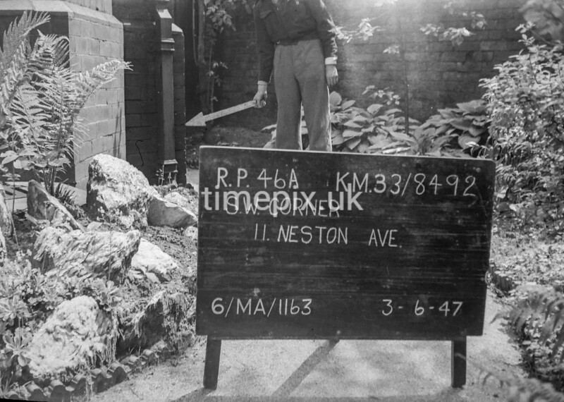 SJ849246A, Ordnance Survey Revision Point photograph in Greater Manchester