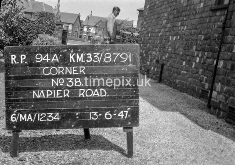 SJ879194A, Ordnance Survey Revision Point photograph in Greater Manchester