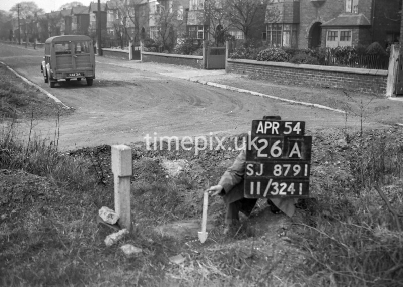 SJ879126A, Ordnance Survey Revision Point photograph in Greater Manchester