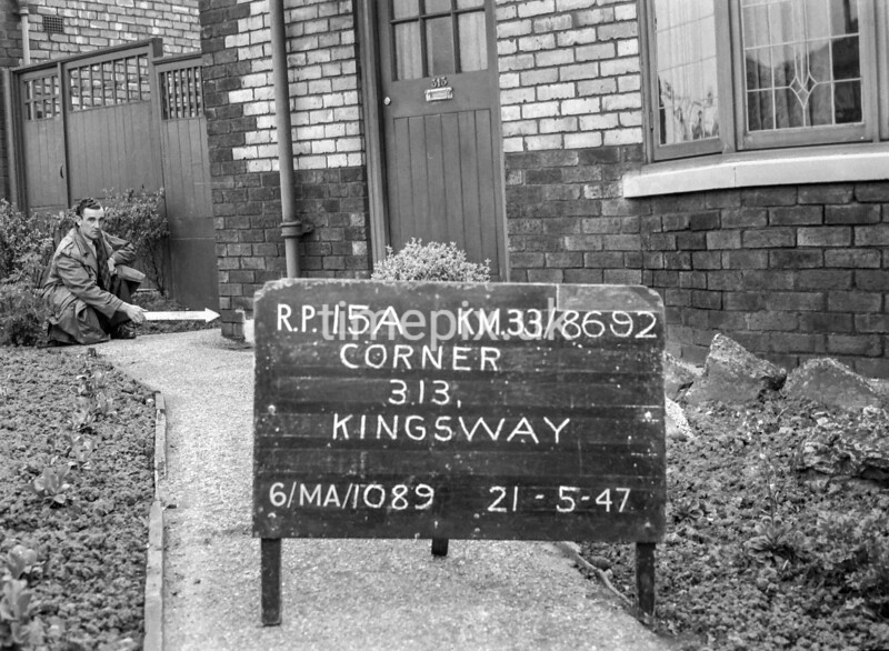 SJ869215A, Ordnance Survey Revision Point photograph in Greater Manchester