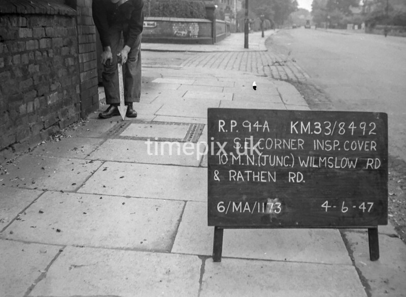 SJ849294A, Ordnance Survey Revision Point photograph in Greater Manchester