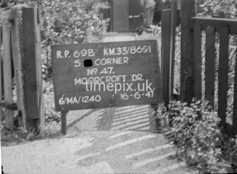 SJ869169B, Ordnance Survey Revision Point photograph in Greater Manchester