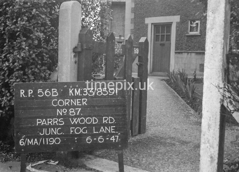 SJ859156B, Ordnance Survey Revision Point photograph in Greater Manchester
