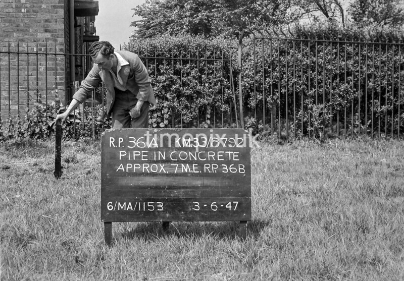 SJ879236A, Ordnance Survey Revision Point photograph in Greater Manchester