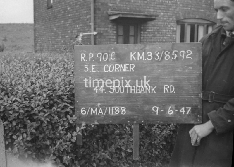 SJ859290C, Ordnance Survey Revision Point photograph in Greater Manchester