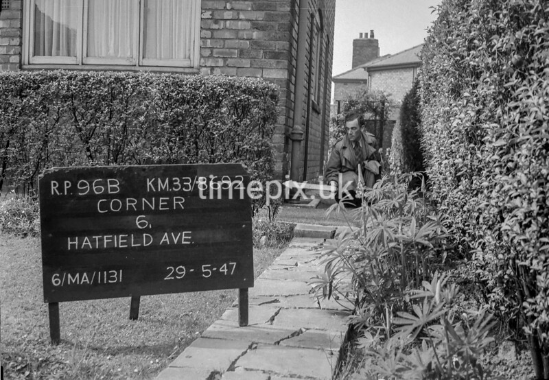 SJ869296B, Ordnance Survey Revision Point photograph in Greater Manchester