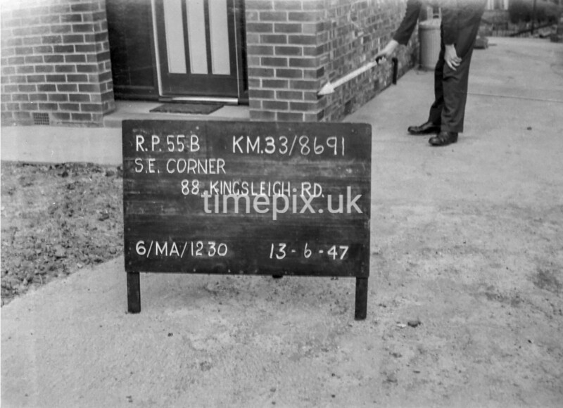 SJ869155B, Ordnance Survey Revision Point photograph in Greater Manchester