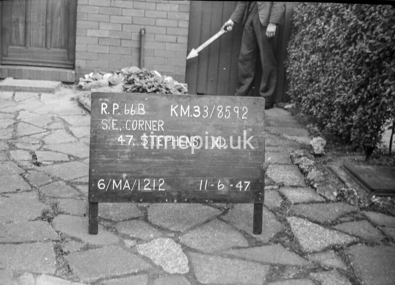 SJ859266B, Ordnance Survey Revision Point photograph in Greater Manchester