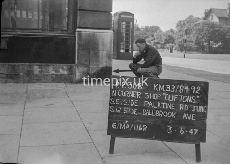 SJ849230B, Ordnance Survey Revision Point photograph in Greater Manchester