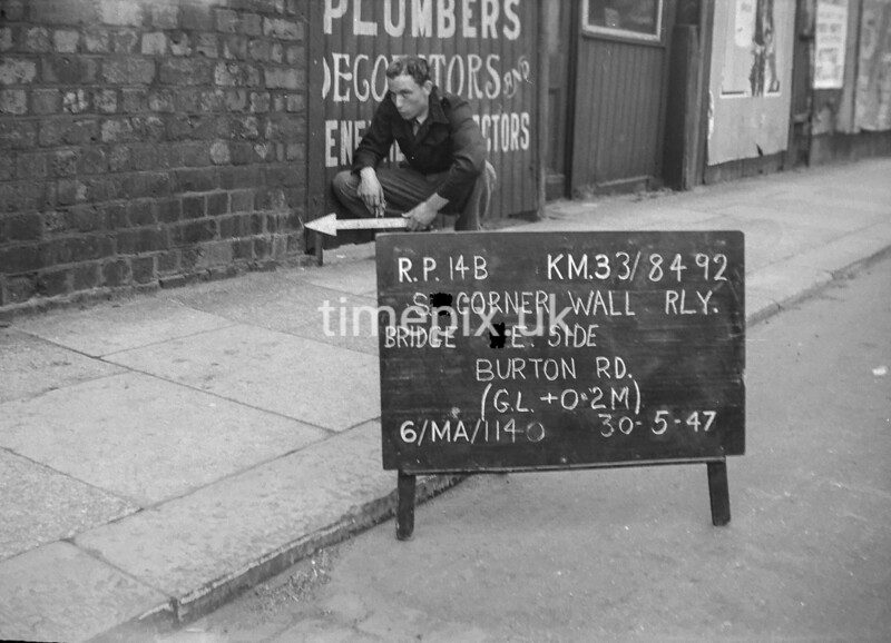 SJ849214B, Ordnance Survey Revision Point photograph in Greater Manchester