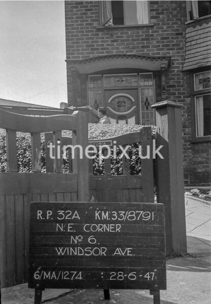 SJ879132A, Ordnance Survey Revision Point photograph in Greater Manchester