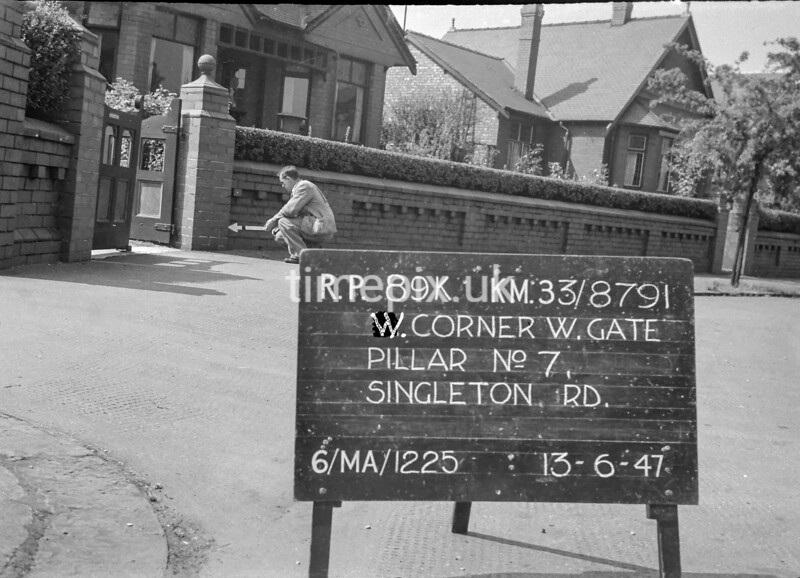 SJ879189K, Ordnance Survey Revision Point photograph in Greater Manchester