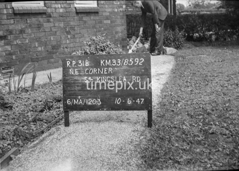 SJ859231B, Ordnance Survey Revision Point photograph in Greater Manchester