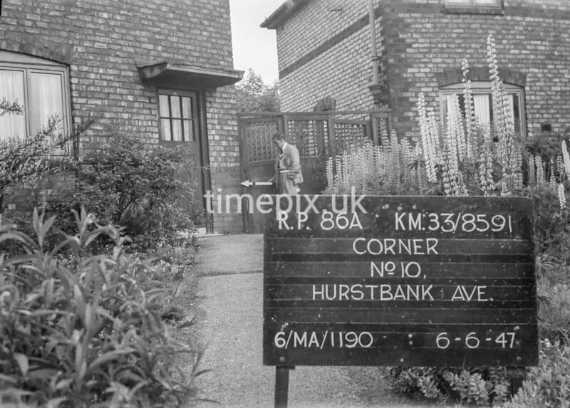 SJ859186A, Ordnance Survey Revision Point photograph in Greater Manchester