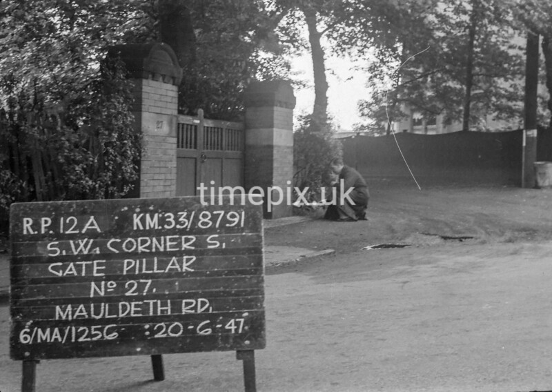 SJ879112A, Ordnance Survey Revision Point photograph in Greater Manchester