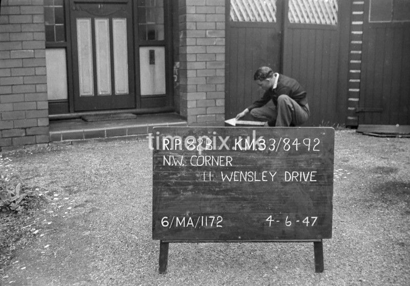 SJ849282B, Ordnance Survey Revision Point photograph in Greater Manchester