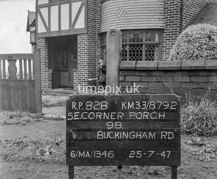 SJ879282B, Ordnance Survey Revision Point photograph in Greater Manchester