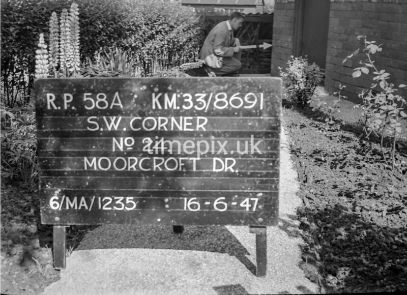 SJ869158A, Ordnance Survey Revision Point photograph in Greater Manchester