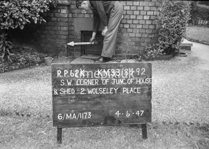 SJ849262K, Ordnance Survey Revision Point photograph in Greater Manchester