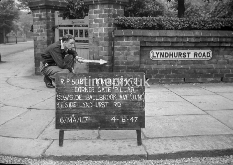 SJ849250B, Ordnance Survey Revision Point photograph in Greater Manchester