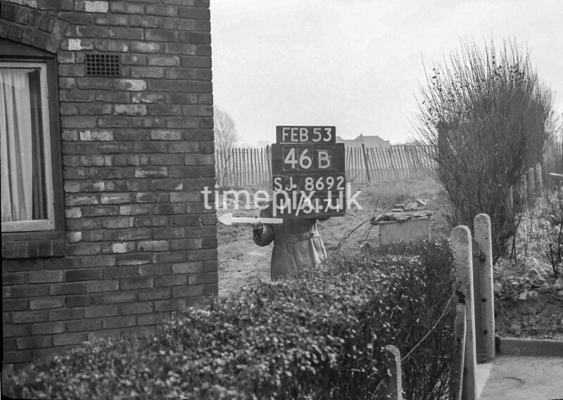 SJ869246B, Ordnance Survey Revision Point photograph in Greater Manchester
