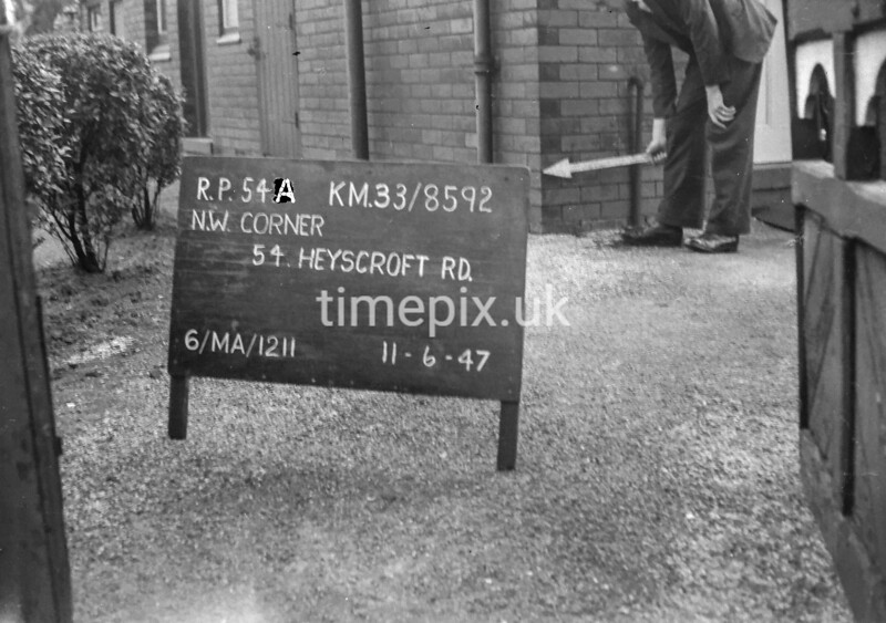 SJ859254A, Ordnance Survey Revision Point photograph in Greater Manchester