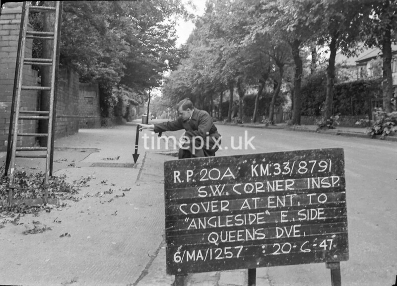 SJ879120A, Ordnance Survey Revision Point photograph in Greater Manchester