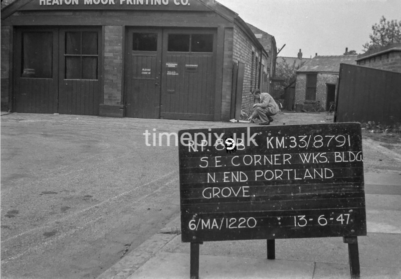 SJ879189B1, Ordnance Survey Revision Point photograph in Greater Manchester