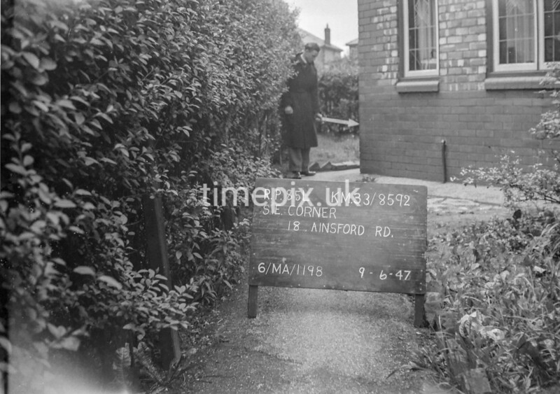 SJ859285L, Ordnance Survey Revision Point photograph in Greater Manchester