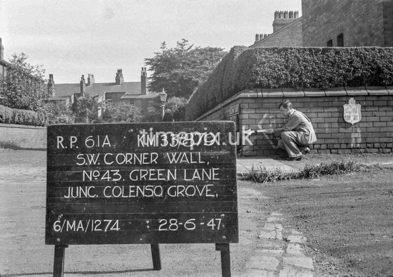 SJ879161A, Ordnance Survey Revision Point photograph in Greater Manchester